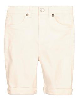 Girls Cuffed Bermuda Shorts - 1621073990049