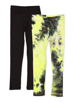 Girls 4-6x Tie Dye Leggings Twin Pack - 1622066590001