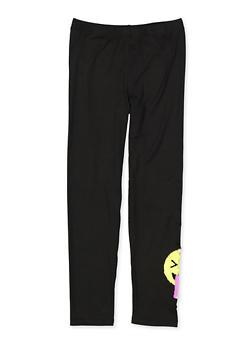 Girls 7-16 Reversible Sequin Emoji Leggings - 1623073990010