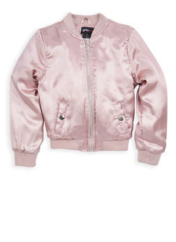 Girls 4-6x Satin Bomber Jacket - 1626051060056