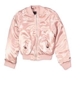 Girls 4-6X Zip Front Bomber Jacket - 1626051060086