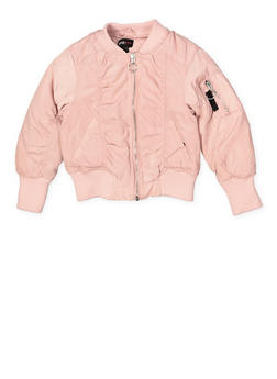 Girls 4-6x Ruched Bomber Jacket - 1626051060088