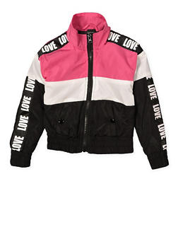 Girls 4-6x Love Color Block Windbreaker - 1626051060101