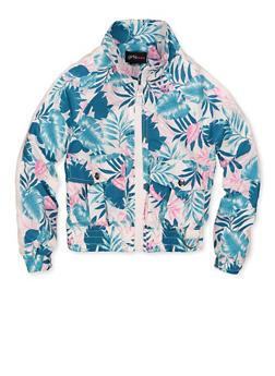 Girls 4-6x Floral Windbreaker Jacket - 1626051060139