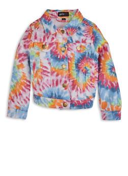 Girls Tie Dye Denim Jacket - 1627038340084