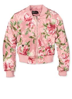 Girls 7-16 Floral Bomber Jacket - 1627051060021