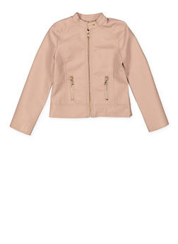 Girls 7-16 Zip Moto Jacket - 1627051060110