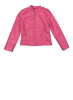 Girls 7-16 Zip Moto Jacket - 1627051060110