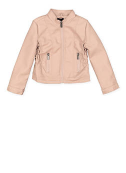 Girls 7-16 Faux Leather Moto Jacket - 1627051060115
