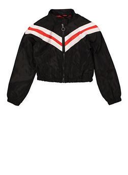 Girls 7-16 Chevron Windbreaker Jacket - 1627051060130