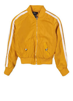 Girls 7-16 Varsity Stripe Bomber Jacket - 1627051060131