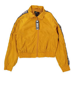Girls 7-16 Queen Tape Windbreaker - 1627051060143