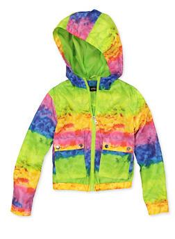 Girls 7-16 Tie Dye Windbreaker Jacket - 1627051060207