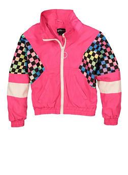 Girls Color Blocked Windbreaker - 1627051060257