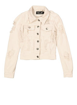 Girls 7-16 Destroyed Jean Jacket | 1627063400011 - 1627063400011