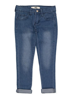 Girls 4-6x Rolled Cuff Jeans - 1628056720035