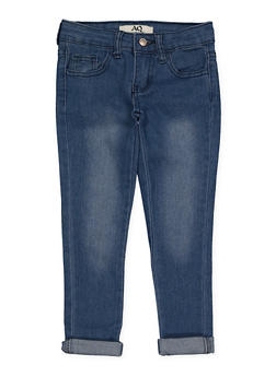 Girls 4-6x Rolled Cuff Jeans - 1628056720036