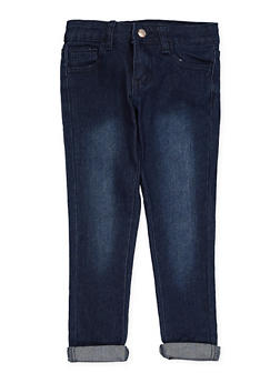 Girls 4-6x Rolled Cuff Hyperstretch Jeans - 1628056720037