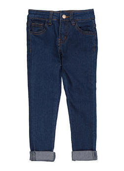 Girls 4-6x Rolled Cuff Jeans - 1628056720038
