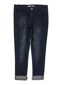 Girls 4-6x Whisker Wash Skinny Jeans - 1628056720039