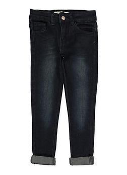 Girls 4-6x Whisker Wash Skinny Jeans - 1628056720040