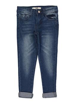 Girls 4-6x Whisker Wash Skinny Jeans - 1628056720041