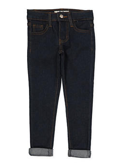 Girls 4-6x Rolled Cuff Jeans - 1628056720042