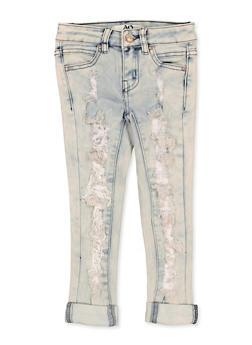 Girls 4-6x Ripped Cuffed Jeans - 1628056720073