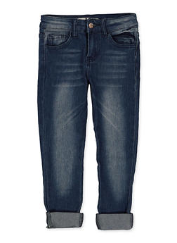 Girls 4-6x Whisker Wash Skinny Jeans - 1628056720081