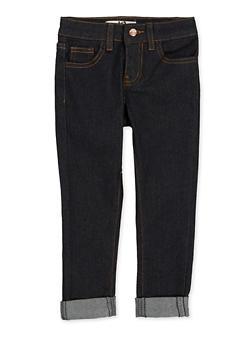 Girls 4-6x Contrast Stitch Skinny Jeans - 1628056720082
