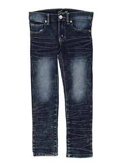 Girls 4-6x Whisker Wash Embroidered Pocket Jeans - 1628063400053