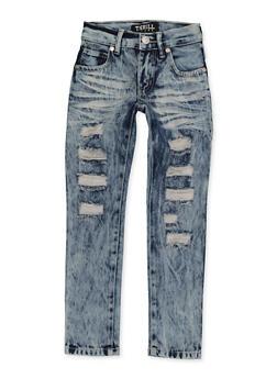 Girls 4-6x Destruction Frayed Jeans - 1628063400061