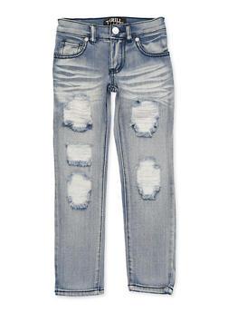 Girls 4-6x Destruction Whiskered Jeans - 1628063400066