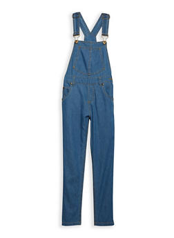 Girls 7-16 Denim Overalls - 1629038340007