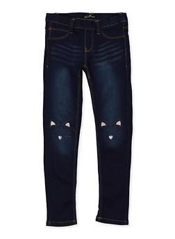 Girls 7-16 Pull On Skinny Jeans - 1629054730006
