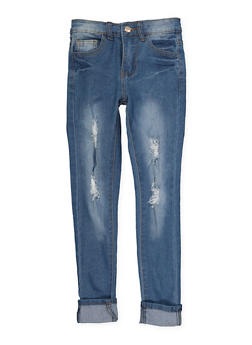 Girls 7-16 Distressed Skinny Jeans - 1629056720040