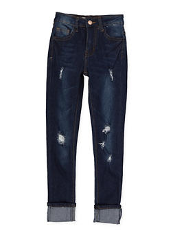 Girls 7-16 Distressed Skinny Jeans - 1629056720042