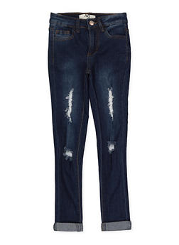 Girls 7-16 Rolled Cuff Skinny Jeans - 1629056720045