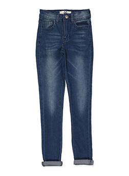 Girls 7-16 Whisker Wash Skinny Jeans - 1629056720051