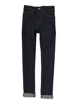 Girls 7-16 Rolled Cuff Jeans - 1629056720052