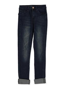 Girls 7-16 Roll Cuff Skinny Jeans - 1629056720100