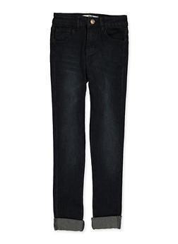 Girls 7-16 Roll Cuff Straight Leg Jeans - 1629056720101