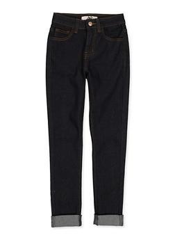 Girls 7-16 Roll Cuff Jeans - 1629056720103