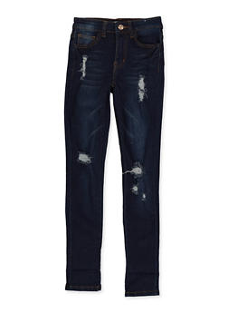 Girls 7-16 Distressed Skinny Jeans - 1629056720398