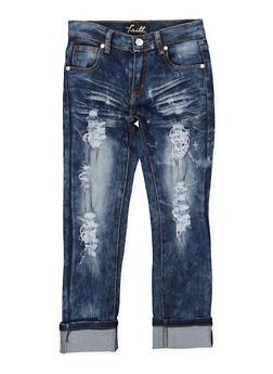 Girls 7-16 Destroyed Skinny Jeans - 1629063400123