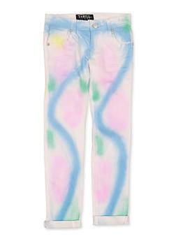 Girls 7-16 Tie Dye Wash Jeans - 1629063400133