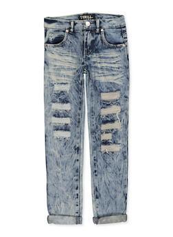 Girls 7-16 Whiskered Jeans - 1629063400137
