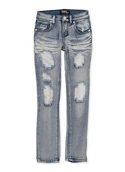 Girls 7-16 Whisker Wash Jeans - 1629063400140