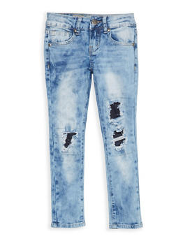 Girls 7-16 VIP Patch and Repair Jeans - 1629065300084