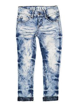 Girls 7-16 VIP Acid Wash Skinny Jeans - 1629065300105